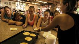 fun cooking at weight loss camp
