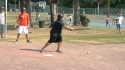 hitting a grounder at weight loss camp