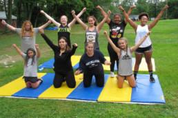 girls on mat at weight loss camp