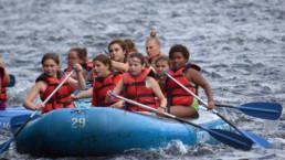 rafting at weight loss camp