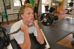 barbell at weight loss camp