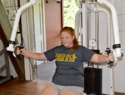 gym at weight loss camp