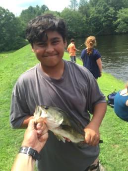 fish at weight loss camp