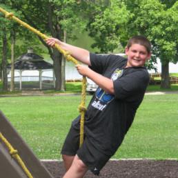boy at weight loss camp
